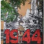 mural na Muranowie w drodze na Bieg - atmosfera się nakręca